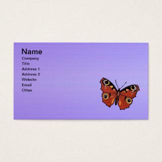 Cartão De Visitas Roxo vívido bonito da borboleta de monarca