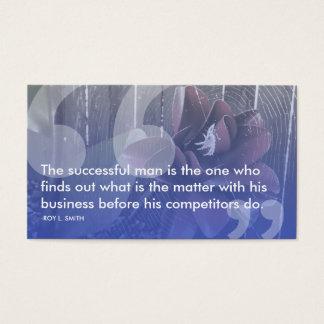 Cartão De Visitas Roy l citações do sucesso do smith