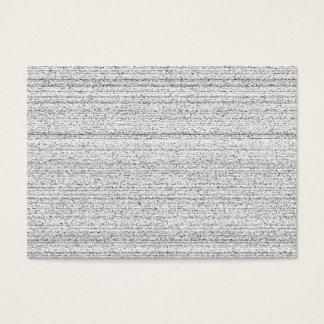 Cartão De Visitas Ruído branco. Grão nevado preto e branco
