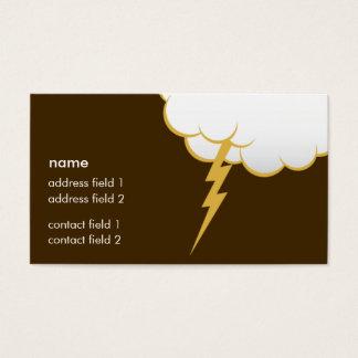 Cartão De Visitas Rum da manteiga do golpe   da nuvem
