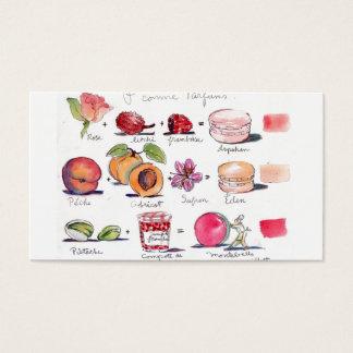 Cartão De Visitas Sabores de Macaron pela canção de natal Gillott