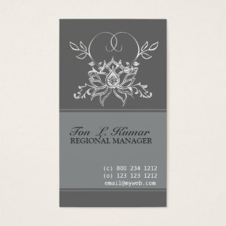 Cartão De Visitas Sagrado elegante de Lotus