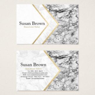 Cartão De Visitas Salão de beleza cinzento moderno do Beautician do