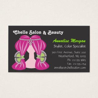 Cartão De Visitas Salão de beleza de Chelle - cabelo cor-de-rosa e