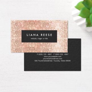 Cartão De Visitas Salão de beleza de cobre dos Sequins do ouro do