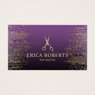 Cartão De Visitas Salão de beleza moderno do roxo dos Sequins do