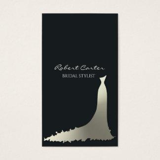 Cartão De Visitas Salão de beleza nupcial do vestido da casa de