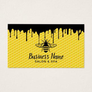 Cartão De Visitas Salão de beleza & termas modernos da abelha de