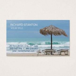 Cartão De Visitas Salas de estar na praia