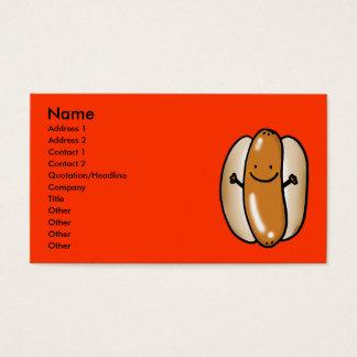 Cartão De Visitas salsicha do cachorro quente do assado