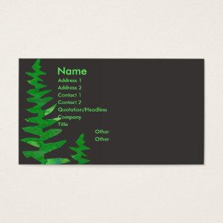 Cartão De Visitas Samambaia verde tropical da aguarela profissional