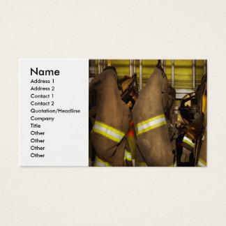Cartão De Visitas Sapador-bombeiro - engrenagem do depósito