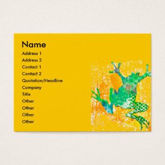 Cartão De Visitas Sapo de salto