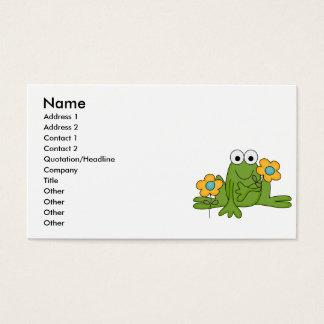 Cartão De Visitas sapo do comedor de rãs da flor