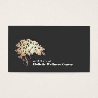 Cartão De Visitas Saúde holística e alternativa da árvore do zen do