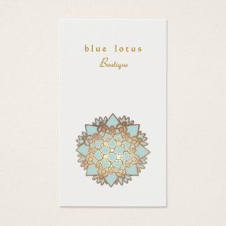 Cartão De Visitas Saúde holística e bem-estar do logotipo de Lotus