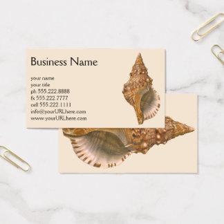 Cartão De Visitas Seashell Shell de Triton do vintage, animal