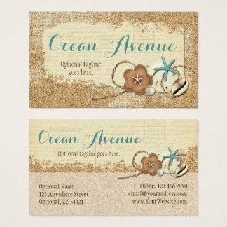Cartão De Visitas Seashells da praia & boutique náuticos do oceano