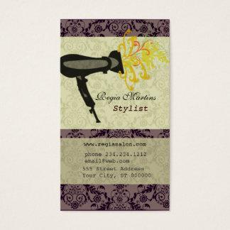 Cartão De Visitas Secador de cabelo do damasco da flor dos termas do