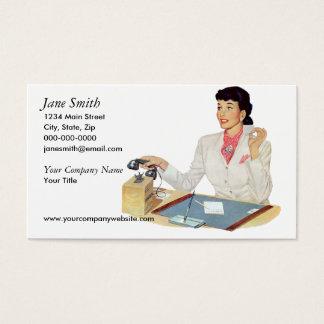 Cartão De Visitas Secretário retro