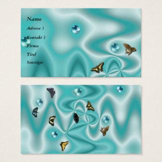 Cartão De Visitas Seda de Azur com pérolas e borboleta