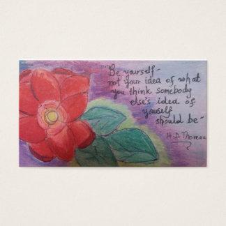Cartão De Visitas seja você mesmo é ferramenta poderosa para a