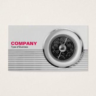 Cartão De Visitas Seletor de rádio britânico - preto e branco