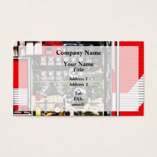 Cartão De Visitas Seletores e mangueiras no carro de bombeiros