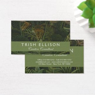 Cartão De Visitas Selva botânica da folha tropical do leão de