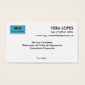 Cartão De Visitas Sem título, VERA LOPES, e-mail: mgs_contabilida...