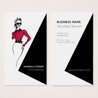 Cartão De Visitas Senhora Ilustração Escritório do negócio