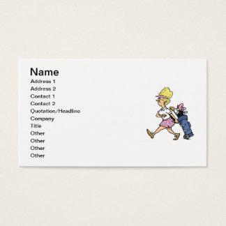 Cartão De Visitas Senhora Jogador de golfe Camiseta e presentes
