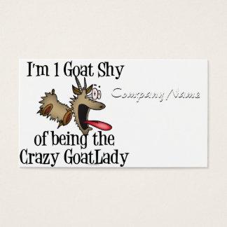 Cartão De Visitas Senhora louca GetYerGoat da cabra