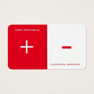 Cartão De Visitas Separação bilateral da arte elétrica