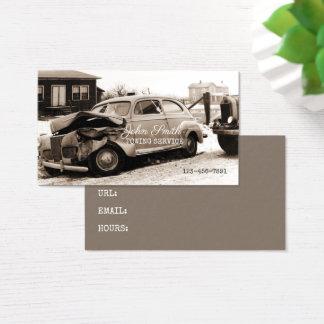 Cartão De Visitas Sepia da oficina de reparações do serviço de