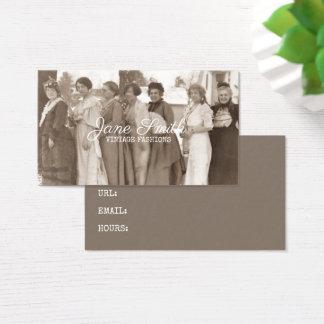 Cartão De Visitas Sepia extravagante da roupa das senhoras das