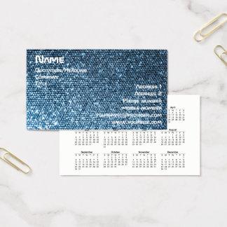 Cartão De Visitas Sequins de prata 2018