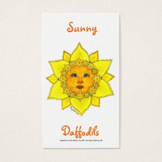 Cartão De Visitas Série ensolarada #2 do Daffodil