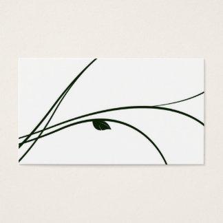 Cartão De Visitas Série floral - 02 - branco/verde