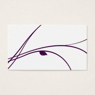 Cartão De Visitas Série floral - 02 - violeta