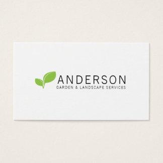 Cartão De Visitas Serviço ajardinando do jardim minimalista