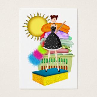 Cartão De Visitas Serviço da limpeza/ajudante da mãe - SRF
