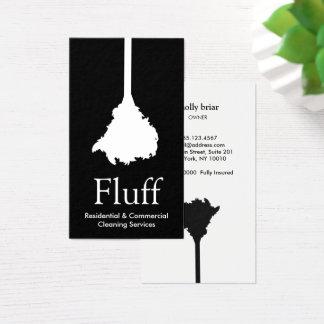 Cartão De Visitas Serviço da limpeza do espanador da pena do líquido