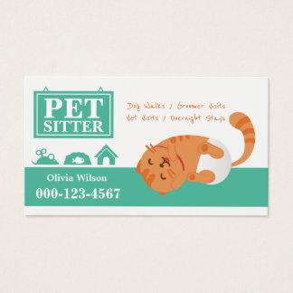 Cartão De Visitas Serviço de assento do animal de estimação