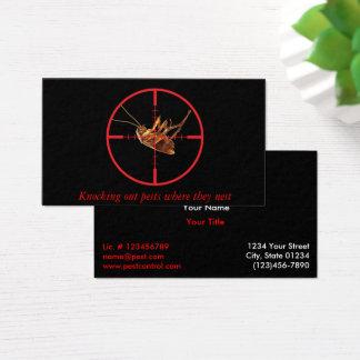 Cartão De Visitas Serviço inoperante preto 2 da praga da barata