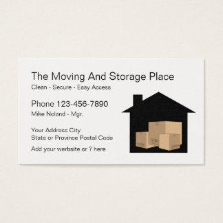 Cartão De Visitas Serviço mover-se e de armazenamento