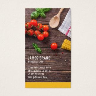 Cartão De Visitas Serviço pessoal da restauração do cozinheiro chefe