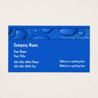 Cartão De Visitas Serviço profissional do encanamento do canalizador