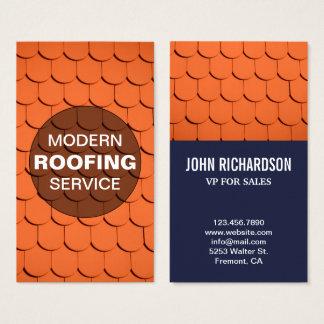Cartão De Visitas Serviço profissional do telhado da construção | do