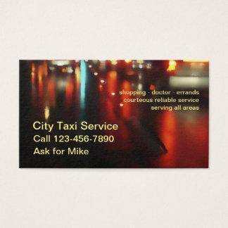 Cartão De Visitas Serviço simples poderoso do táxi